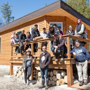 Group Photo In Front Od Lodge